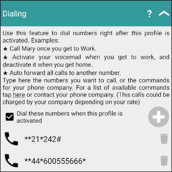 Dialing numbers