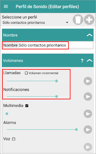 Priority contacts only